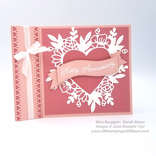 Stampin' Up! Always in my Hearts swap card shared by Dawn Olchefske #dostamping #cardmaking (Sarah Simon)