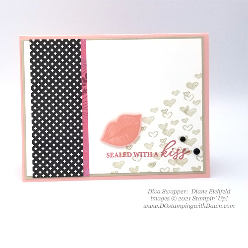Stampin' Up! Hearts and Kisses swap card shared by Dawn Olchefske #dostamping #cardmaking (Diane Eichfeld)