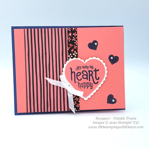 Stampin' Up! FREE Punch Party swap card shared by Dawn Olchefske #dostamping #cardmaking (Natalie Travis)