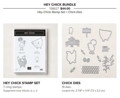 Hey Chick Bundle from Stampin' Up! share by Dawn Olchefske #dostamping #birthday