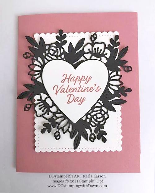 Always in my Heart Bundle card shared by Dawn Olchefske made by DOstamperSTAR Karla Larson #dostamping #stampinup #valentinesdaycards-1