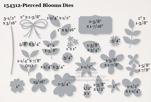 154312-Stampin' Up! Pierced Blooms Dies measurements #DOstamping #stampinup #stampincut #cardmaking #HowdSheDOthat #papercrafting
