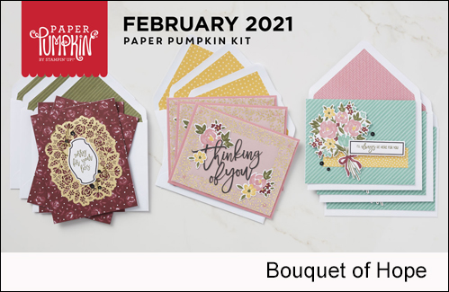 Paper Pumpkin Bouquet of Hope February 2019 kit alternate ideas from Dawn Olchefske #dostamping #cardkits #howdSheDOthat-1