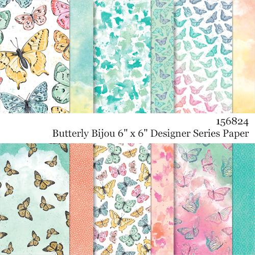 156824 Butterfly Bijou Designer Series Paper shared by Dawn Olchefske #dostamping #stampinup
