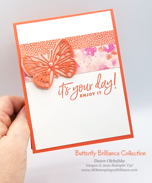 Stampin' Up! Butterfly Brilliance Collection card by Dawn Olchefske #dostamping #howdSheDOthat-ccph