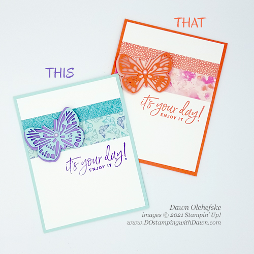 Stampin' Up! Butterfly Brilliance Collection card by Dawn Olchefske #dostamping #howdSheDOthat-tt2