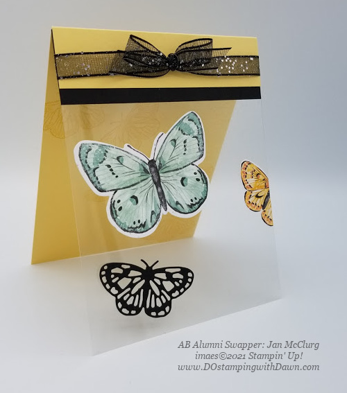 Stampin' Up! Butterfly Brilliance Bundle swap cards shared by Dawn Olchefske  (Jan McClurg)