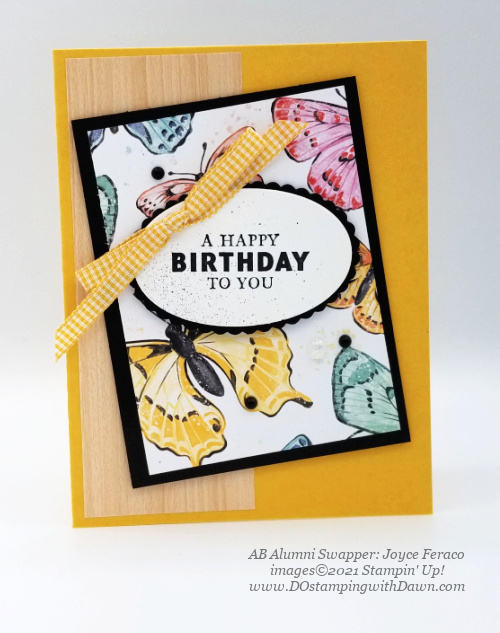 Stampin' Up! Butterfly Brilliance Bundle swap cards shared by Dawn Olchefske  (Joyce Feraco))