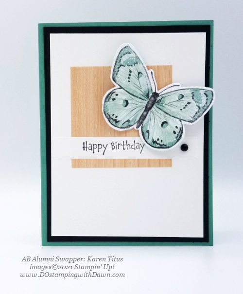 Stampin' Up! Butterfly Brilliance Bundle swap cards shared by Dawn Olchefske  (Karen Titus)