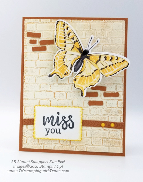 Stampin' Up! Butterfly Brilliance Bundle swap cards shared by Dawn Olchefske  (Kim Peck)