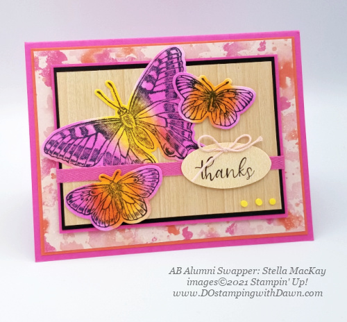 Stampin' Up! Butterfly Brilliance Bundle swap cards shared by Dawn Olchefske  (Stella MacKay)