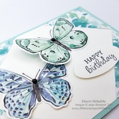 Butterfly Bijou Designer Series Paper Sketch card by Dawn Olchefske for DOstamperSTARS #DOswts358 #howdSheDOthat #stampinup #dostamping-2