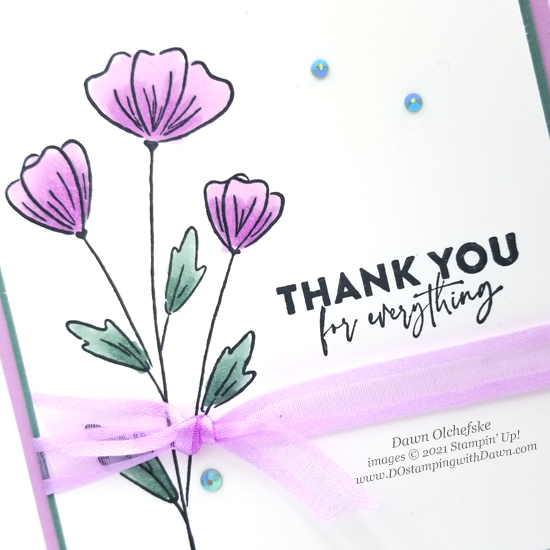 NEW Stampin' Up! Flowers of Friendship card by Dawn Olchefske #dostamping #HowdSheDOthat #papercrafting #incolor-CU
