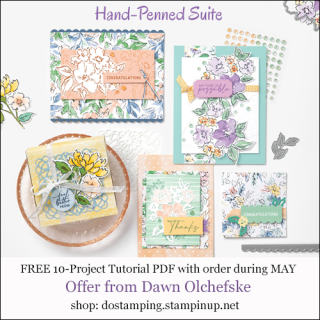 DOstamping MAY 2021 order BONUS-FREE Hand-Penned Suite 10-Project Tutorial PDF Shop with Dawn Olchefske #dostamping-#cardmaking-#stampinup-500