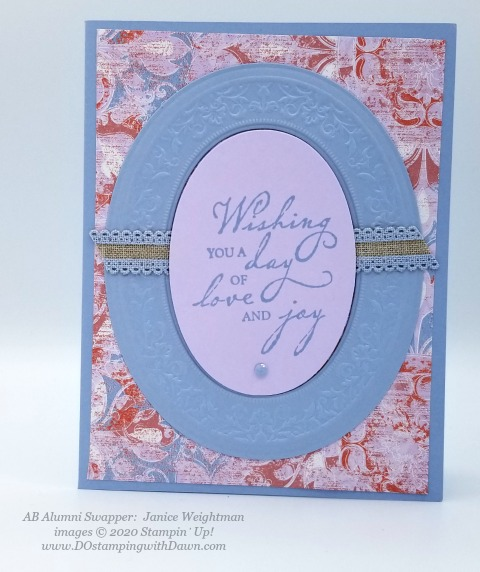 Stampin' Up! 2019-2021 In Color swap cards shared by Dawn Olchefske #dostamping #howdshedothat #stampinup #handmade #cardmaking #stamping #papercrafting (Janice Weightman)