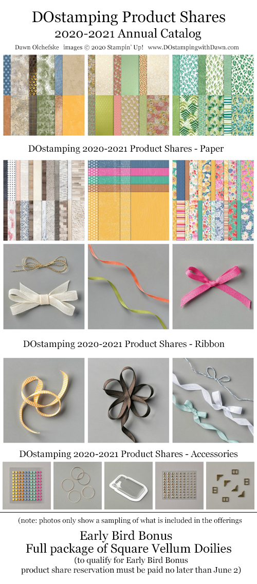 DOstamping 2020-2021 Annual Catalog Product Shares - now taking reservations #dostamping #productshares #stampinup