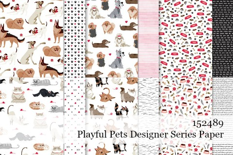 152489-Playful Pets Designer Series Paper details shared by Dawn Olchefske #dostamping #stampinup #handmade #cardmaking #papercrafting