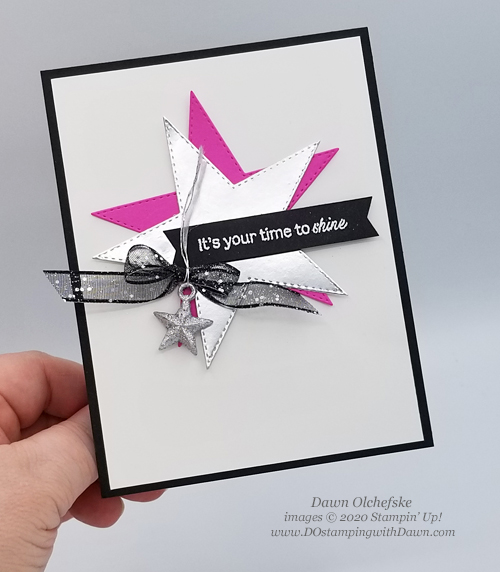 Star inspired card by Dawn Olchefske for Stamping with the STARS #342 #dostamping #howdshedothat #stampinup #handmade #cardmaking #stamping #papercrafting  #DOswts342 #DOstamperSTARS