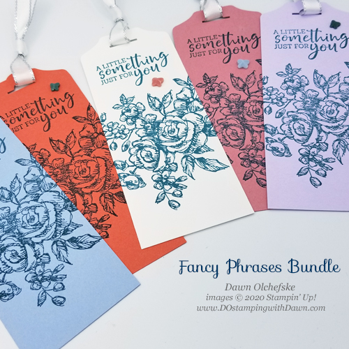 Stampin' Up! Fancy Phrases Tags by Dawn Olchefske #dostamping #howdshedothat #stampinup #handmade #stamping #papercrafting  #YCC109 #YourCreativeConnection