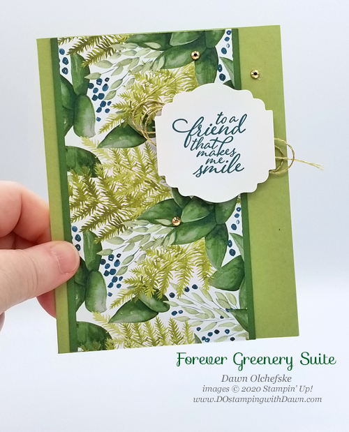 Stampin' Up! Forever Fern QC card from Dawn Olchefske #dostamping #howdshedothat #stampinup #handmade #cardmaking #stamping #papercrafting