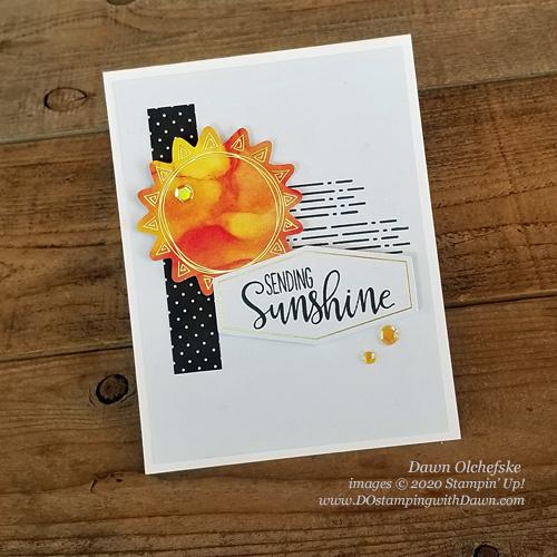 Paper Pumpkin June 2020 Blop Hop - Sharing Sunshine| Dawn Olchefske dostamping #stampinup #handmade #cardmaking #stamping #diy #papercrafting #paperpumpkin #cardkits #sharingsunshine