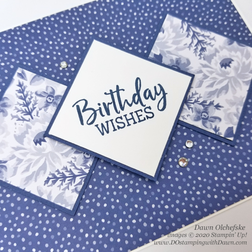 Stampin' Up! Flowers for All Seasons & Fancy Phrases Sketch card by Dawn Olchefske #dostamping #howdshedothat #stampinup #handmade #cardmaking #stamping #papercrafting  #DOswts341 #DOstamperSTARS