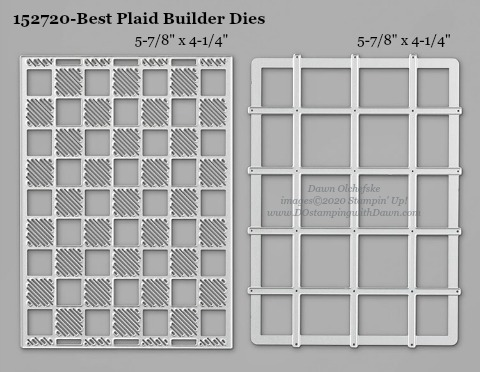 Stampin' Up! Best Plaid Builder Dies #DOstamping #stampinup #BestPlaidBuilder #stampincut #cardmaking #HowdSheDOthat #papercrafting
