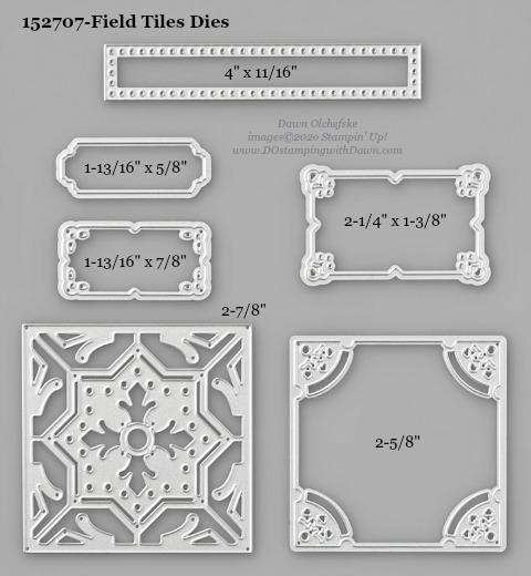 Stampin' Up! Field Tiles Dies #DOstamping #stampinup #FieldTiles #stampincut #cardmaking #HowdSheDOthat #papercrafting