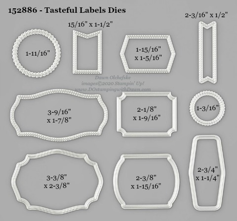 Stampin' Up! Tasteful Labels Dies #DOstamping #stampinup #stampincut #cardmaking #HowdSheDOthat #papercrafting #TastefulLabels