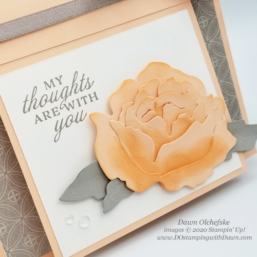 Stampin' Up!  Prized Peony Bundle Fun Fold Card by Dawn Olchefske #dostamping #howdshedothat #stampinup #handmade #stamping #papercrafting  #YCC112 #YourCreativeConnection