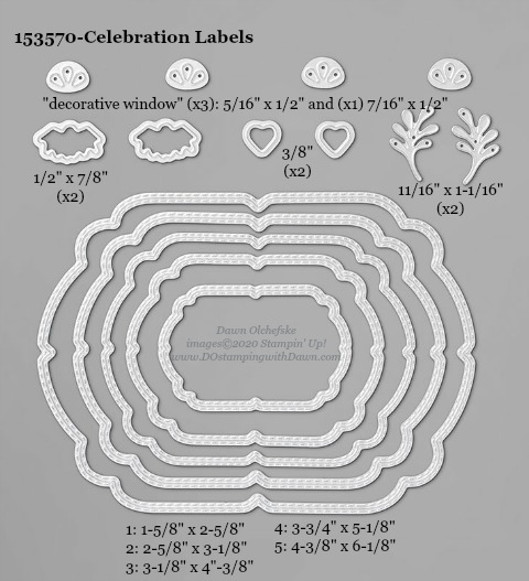 153570-Stampin' Up! Celebration Labels Die measurements #DOstamping #stampinup #stampincut #cardmaking #HowdSheDOthat #papercrafting