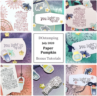 Summer Nights July 2020 Paper Pumpkin with DOstamping to receive a free alternate ideas tutorial PDF bonus each month.  Subscribe with Dawn Olchefske here: https://www.paperpumpkin.com/en-us/sign-up/?demoid=61500  #paperpumpkin #dostamping #stampinup #alternativeideas