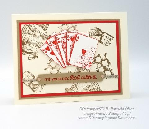Game On - Stampin' Up! 2020-2021 Annual catalog DOstamperSTARS swap cards shared by Dawn Olchefske #dostamping #howdshedothat #stampinup #handmade #cardmaking #stamping #papercrafting #dostamperstars (Pat Olson)