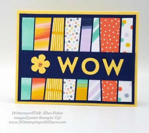 Playful Alphabet - Stampin' Up! 2020-2021 Annual catalog DOstamperSTARS swap cards shared by Dawn Olchefske #dostamping #howdshedothat #stampinup #handmade #cardmaking #stamping #papercrafting #dostamperstars (Ellen Fisher)