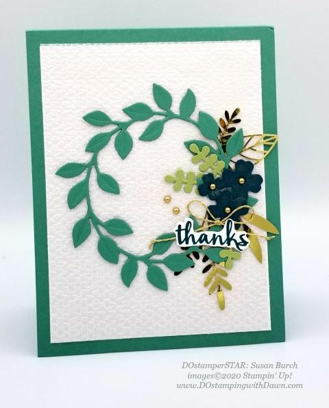 Arrange a Wreath Bundle Stampin' Up! 2020-2021 Annual catalog DOstamperSTARS swap cards shared by Dawn Olchefske #dostamping #howdshedothat #stampinup #handmade #cardmaking #stamping #papercrafting #dostamperstars (Susan Burch)