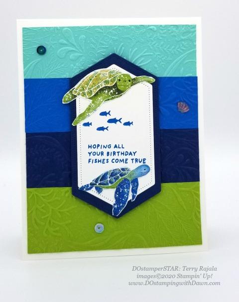 Whale Done - Stampin' Up! 2020-2021 Annual catalog DOstamperSTARS swap cards shared by Dawn Olchefske #dostamping #howdshedothat #stampinup #handmade #cardmaking #stamping #papercrafting #dostamperstars (Terry Rajala)