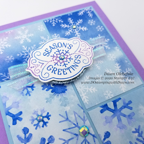 Stampin' Up! Snowflake Splendor Designer Series Paper card by Dawn Olchefske for Stamping with the STARS #348 #dostamping #howdshedothat #stampinup #handmade #cardmaking #stamping #papercrafting  #DOswts348 #DOstamperSTARS #christmascards