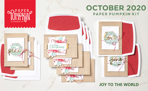 Joy to the World Paper Paper October 2020 #dostamping #howdSheDOthat #paperpumpkin #cardkits