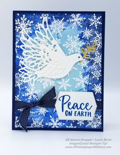 Stampin' Up! Dove of Hope card swap AB-Laura Barto #dostamping  #dawnolchefske