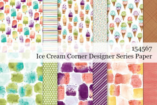 Stampin' Up! Ice Cream Corner Designer Series Paper shared by Dawn Olchefske #dostamping #stampinup #handmade #cardmaking #stamping #papercrafting