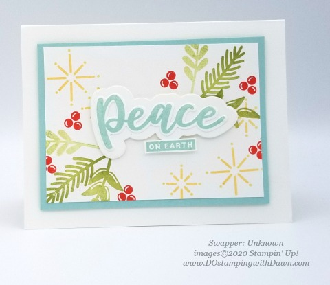 Stampin' Up! Peace and Joy swap shared by Dawn Olcheske #dostamping #christmas cards (unknown)