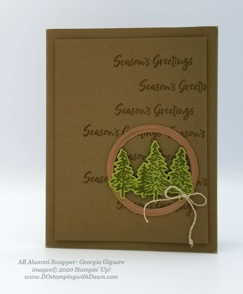 Stampin' Up! In The Pines swap shared by Dawn Olcheske #dostamping #christmas cards AB-Georgia Giguere