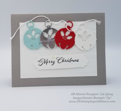 Stampin' Up! Cherish the Season Bundle swap shared by Dawn Olcheske #dostamping #christmas cards AB-Lis Ljung