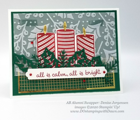 Stampin' Up! Christmas Sweetest Time swap shared by Dawn Olcheske #dostamping #christmas cards Denise Jorgensen
