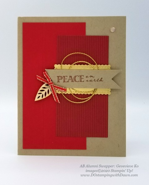 Stampin' Up! Wrapped in Christmas swap shared by Dawn Olcheske #dostamping #christmas cards AB-Genevieve Ko