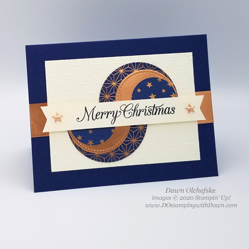 Split Circles Technique Card for DOstamping Club@Home by Dawn Olchefske #stampinup #christmascards #handmade