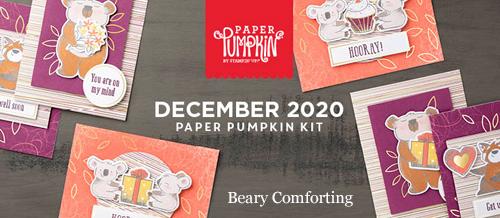 Beary Comforting Paper Pumpkin kit December 2020 #dostamping #paperpumpkin #alternatives