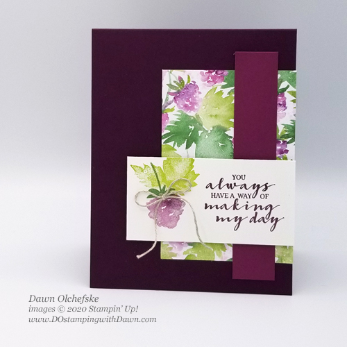 Stampin' Up! Berry Blessings Bundle Sale-a-Bration card by Dawn Olchefske #DOswts354 #dostampingm#dostamperSTARS #papercrafting