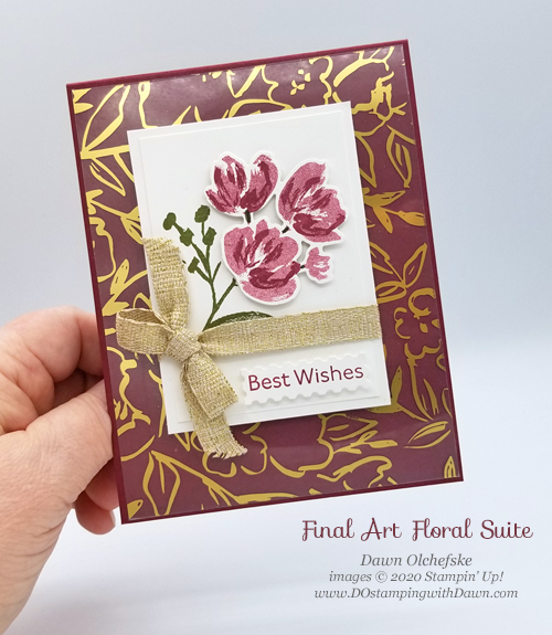 Stampin' Up! Fine Art Floral Suite card by Dawn Olchefske #dostamping #HowdSheDOthat #papercrafting-PH