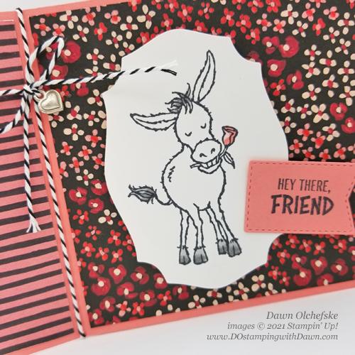 FREE Sale-a-Bration.Darling Donkeys stamp set card by Dawn Olchefske #dostamping #stampinup #papercrafting-CU